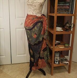 NWOT - Long bikini cover-up / wrap skirt